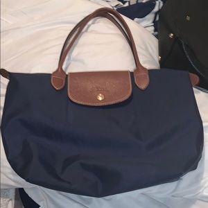 navy blue longchamp purse